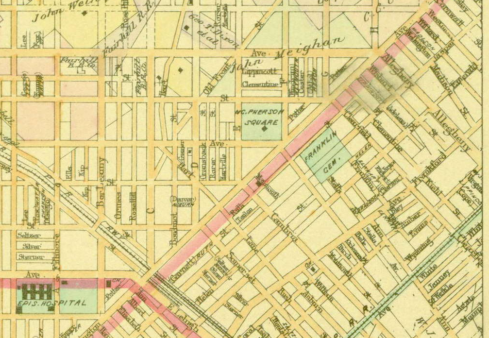 1897 baists map showing the development of the city and suburbs of philadelphia 1897